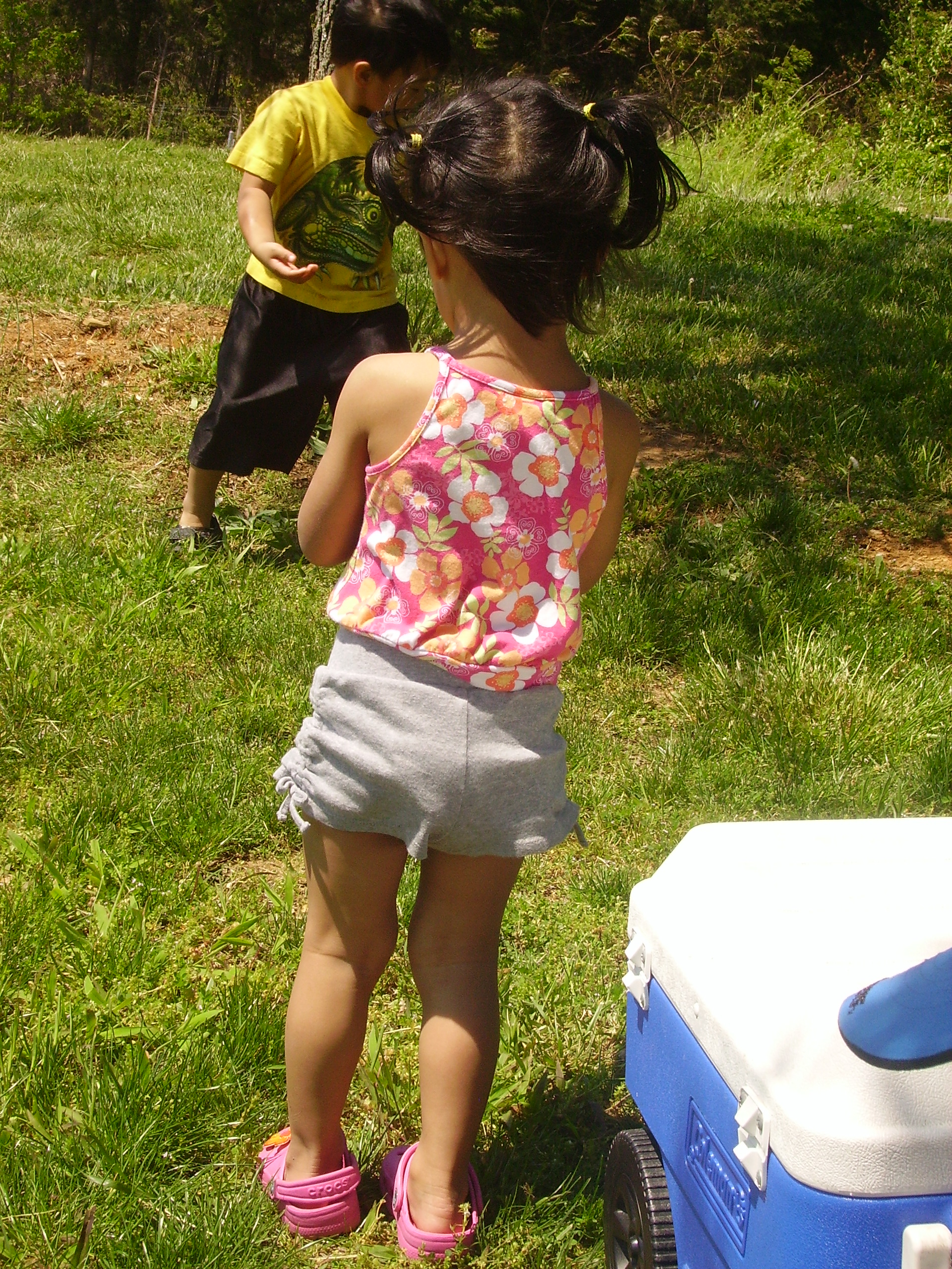 My little niece in her short shorts.
