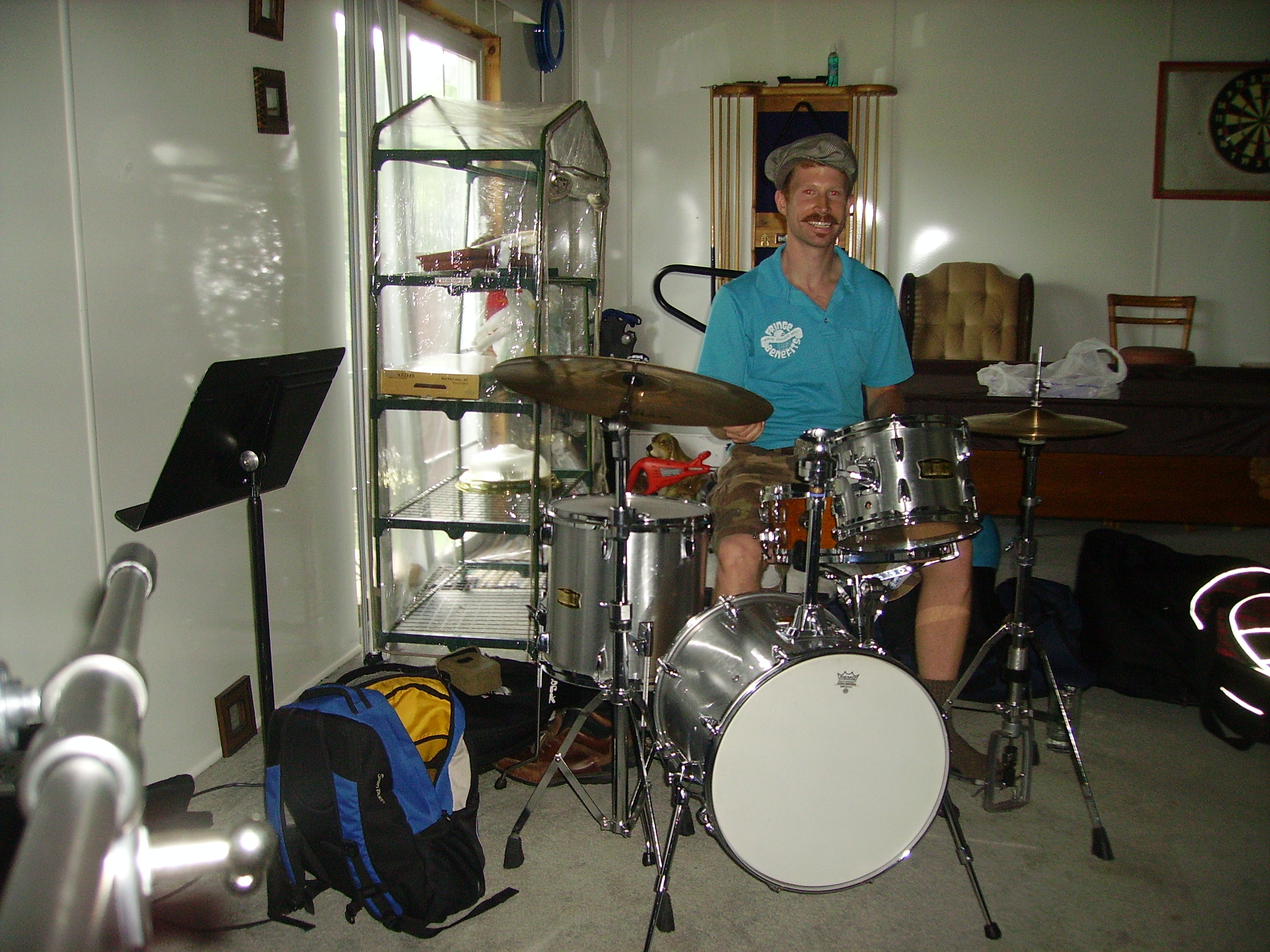Tim at the Drums!