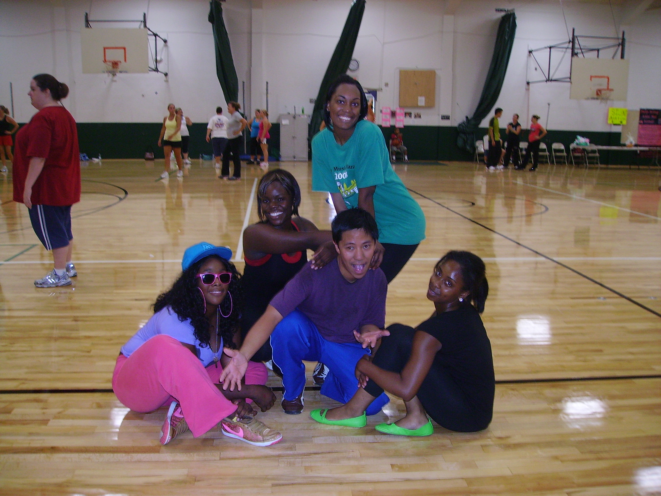 Me and the girls at the Zumbathon!!